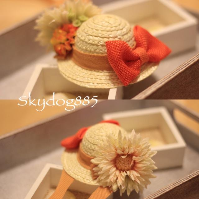 画像1: ソフィの帽子♡オレンジ&淡いオレンジ