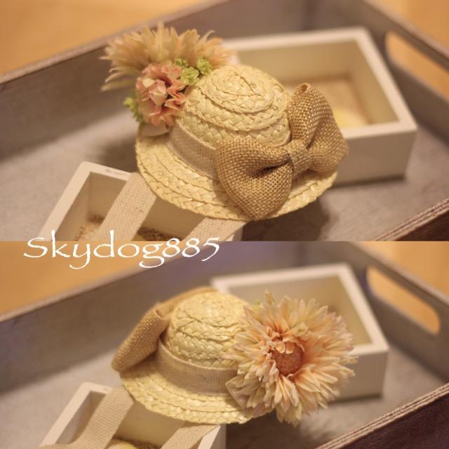 画像1: ソフィの帽子♡ベージュ&淡いピンク