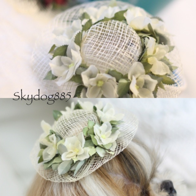 画像1: 花かんむり♡帽子♡ホワイト