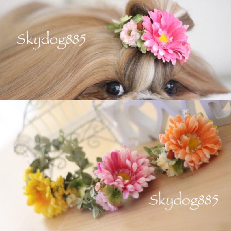 画像1: ちょんまげ花かんむり♡A♡Sサイズ・3color