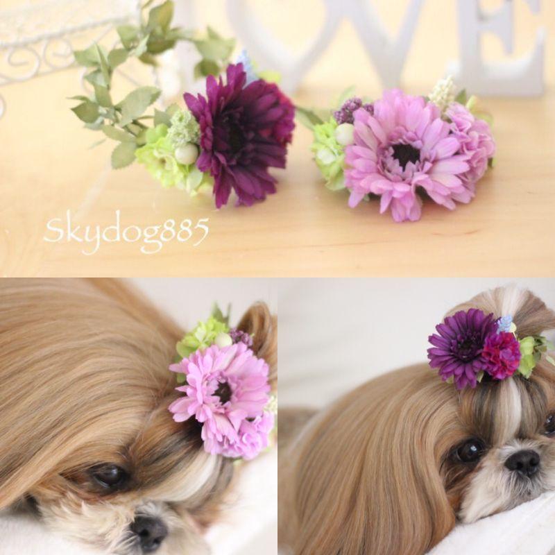 画像1: ちょんまげ花かんむり♡C♡Sサイズ♡2color