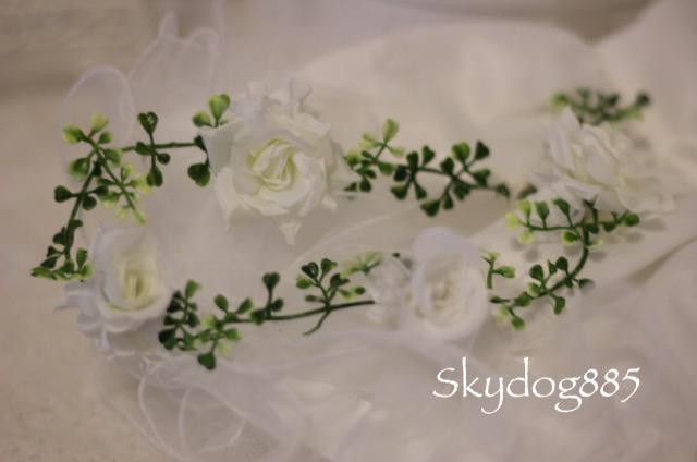 画像1: White wedding♡ママ用♡hanging flower(垂れ下がり)42cm