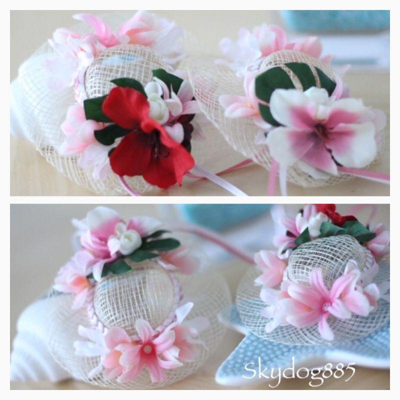 画像1: ハワイアンflower♡リゾート帽 ♡カラー選択