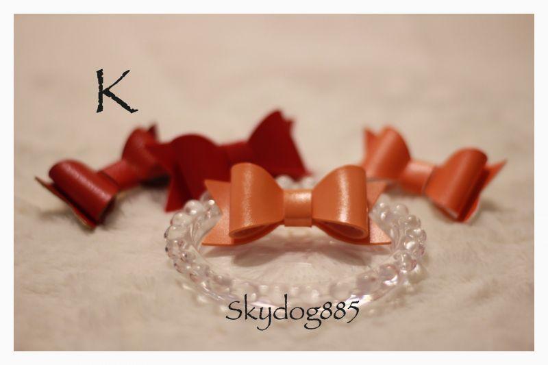 画像1: フェイクレザー・3Dコーティングリボン★ゴム・K(glossyオレンジ)