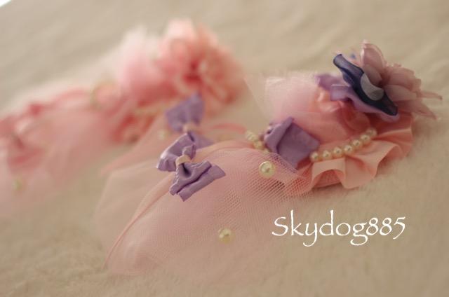 画像1: ミニダリア帽子♡ヘッドドレス・Pink lavender