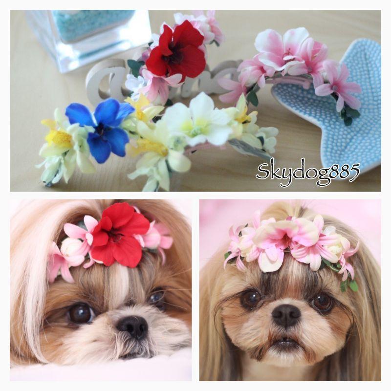 画像1: ハワイアンflower♡カチューシャバレッタ♡4color選択