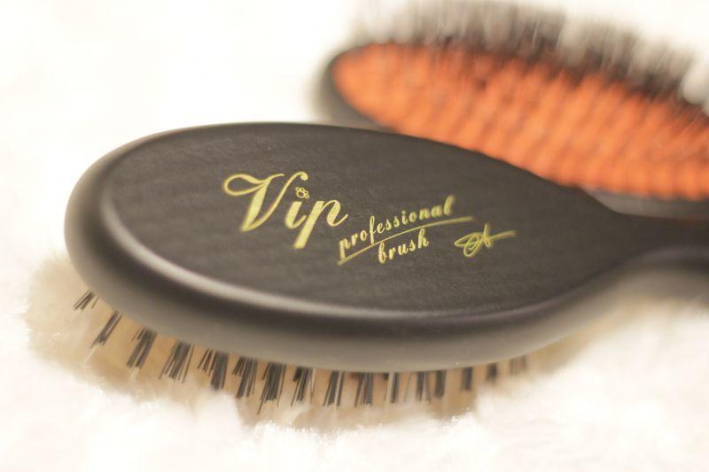 画像1: Vip ブリストルブラシ★豚毛ナイロンMIX ブラシ・wood ・ミディアムサイズ